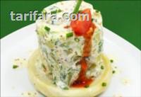 Enginar Yatağında Hardallı Patates Salatası