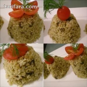 Patlıcan Biber ve Domatesli Pilav