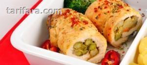 Garnitürlü Tavuk Rulo