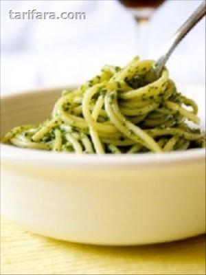 Pesto (Fesleğen) Soslu Makarna