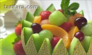 Kavun Kasesinde Meyve Salatası