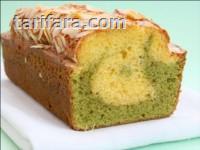 Beyaz Çikolatalı Ve Yeşil Çaylı Kek